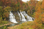 Twin Falls, Twin Falls Overlook, Rock Island State Park, Rock Island, Tennessee, USA