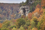View of Stone Door formation from Laurel Gulf Overlook, Stone Door Trail, Savage Gulf State Natural Area, Beersheba Springs, Tennessee, USA