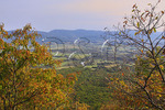 View of Page Valley From Kennedy Peak Summit, Massanutten Mountain, Shenandoah Valley, Virginia, USA