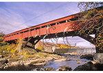 Covered bridge and power generating plant, Taftsville, Vermont