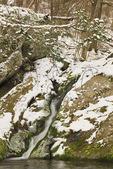 Winter Waterfall, Mill Prong Trail, Near Appalachian Trail, Shenandoah National Park, Virginia, USA