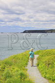 Liberty Point with West Quaddy Head Light in Distance, Roosevelt Campobello International Park, Welshpool, Campobello Island, New Brunswick, Canada