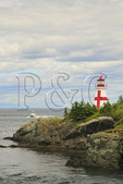 East Quaddy Head Lighthouse, Welshpool, Campobello Island, New Brunswick, Canada