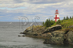 East Quaddy Head Lighthouse, Welshpool, Campobello Island, New Brunswick, Canada