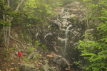 Waterfall at Waterfall Bridge, Hadlock Brook Loop Carriage Road, Acadia National Park, Maine, USA