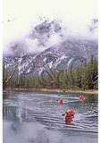 Canoers on the Bow River, Banff National Park, Alberta, Canada