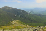 Great Gulf Wilderness and Mount Washigton Auto Road with Appalachian Trail and Mount Madison in Distance, White Mountains, New Hampshire, USA