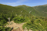 Great Gulf Wilderness, Chandler Brook Trail and Great Gulf Trail with Appalachian Trail and Mount Jerrerson in Distance, White Mountains, New Hampshire, USA
