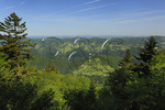 View to east from summit of Spruce Knob, Spruce Knob-Seneca Rocks National Recreation Area, Monongahela National Forest, Judy Gap, West Virginia, usa