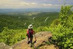 View From Appalachian Trail, Franklin Cliff, Shenandoah National Park, Virginia, USA