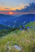 Sunset View From RockyTop Overlook, Shenandoah National Park, Virginia, USA