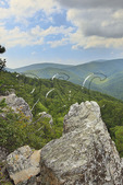 View From Rocky Mount Trail, On Rocky Mount, Shenandoah National Park, Virginia, USA