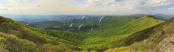 View From Appalachian Trail, Near Pinnacles, Looking at Mary's Rock, Shenandoah National Park, Virginia, USA