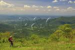 View From Appalachian Trail, Jewell Ridge, Shenandoah National Park, Virginia, USA