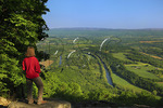 View of Shenandoah River from West Trail, Massanutten Mountain, Woodstock, Virginia, USA