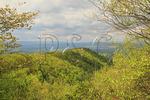 View of Signal knob, Signal Knob Trail, Massanutten Mountain, Shenandoah Valley, Virginia, USA