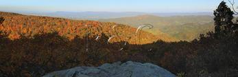 Bear Fence Mountain,  Appalachian Trail, Shenandoah National Park, Virginia, USA