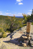 Beech Cliff and Canada Cliff Trail, Beech Mountain, Looking at Atlantic Ocean, Acadia National Park, Mount Desert island, Maine, USA