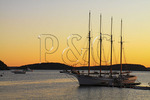 Sunrise in Harbor, Bar Harbor, Mount Desert island, Maine, USA
