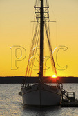 Sunrise in Harbor, Bar Harbor, Mount Desert island, Maine, USA
