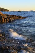 Bar Harbor Shore Path, Bar Harbor, Mount Desert island, Maine, USA