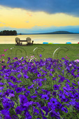 Sunset, Five Lakes Lodge, South Twin Lake, Millinocket, Maine, USA