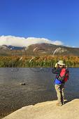 Sandy Stream Pond with Mount Katahdin, Baxter State Park, Millinocket, Maine, USA