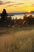 Rangeley Lake Seen from Rangeley Overlook, Rangeley, Maine, USA