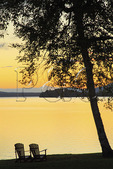 Sunset, Loon Lodge, Rangeley Lake, Rangeley, Maine, USA