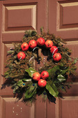 Christmas Wreath, Colonial Williamsburg, Virginia, USA