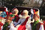 Santa Claus in Christmas Parade, Colonial Williamsburg, Virginia, USA