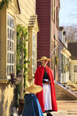 Women and Christmas Decorations, Colonial Williamsburg, Virginia, USA