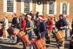 Christmas Parade at Courthouse, Colonial Williamsburg, Virginia, USA