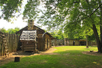 FORT WATAUGA, SYCAMORE SHOALS STATE HISTORIC PARK, ELIZABETHTON, TENNESSEE, USA