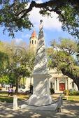 PLAZA AND CATHEDRAL BASILICA, HISTORIC DOWNTOWN, SAINT AUGUSTINE, FLORIDA, USA