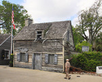 OLDEST WOODEN SCHOOLHOUSE, HISTORIC DOWNTOWN, SAINT AUGUSTINE, FLORIDA, USA