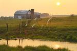 Sunrise and Barn; Swoope; Shenandoah Valley; Virginia; USA