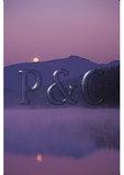 Moonset Over Grandfather Mountain, Julian Price Memorial Park, Blue Ridge Parkway, North Carolina