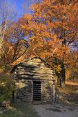Storage Building, Humpback Rocks Farmstead, Blue Ridge Parkway, Virginia, USA