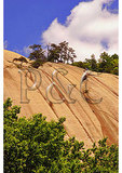 Climbers On Stone Mountain, Stone Mountain State Park, Traphill, North Carolina