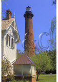 Keepers House and Currituck Beach Lighthouse, Corolla, Outer Banks, North Carolina
