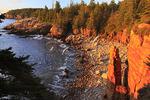 Sunrise at Monument Cove, Otter Cliff, Acadia National Park, Maine, USA