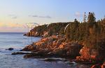 Sunrise, Otter Cliff, Acadia National Park, Maine, USA