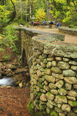 Cobblestone Carriage Road Bridge near Jordan Pond, Acadia National Park, Maine, USA