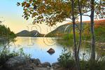 Dusk Along Jordan Pond Shore Trail; Acadia National Park; Maine; USA