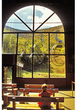 In station watching the Cannon Mountain Aerial Tramway, Franconia Notch, White Mountains, New Hampshire