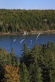 Tiptoe Mountain Trail, Tiptoe Mountain Town Park, Vinalhaven Island, Maine, USA