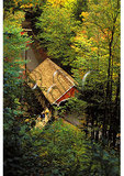People at the Covered Bridge, The Flume, Franconia Notch, New Hampshire