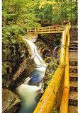 Visitor at Sabbaday Falls, Kancamagus Highway, New Hampshire