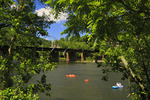 Tubing on Potomac River, Harpers Ferry National Historic Park, Sandy Hook, Maryland, USA